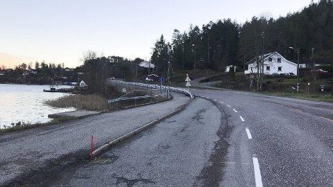 Mangler skilt: Skjønvik holdeplass ser noe nedlagt ut, uten verken skilt eller busskur som indikerer at dette er en holdeplass. foto: Emma Huisman Moskvil