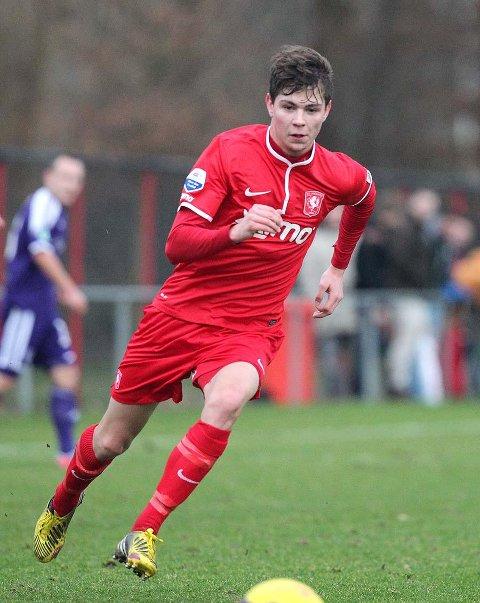 SKAPTE JUBEL: Torgeir Børven satte inn seiersmålet. Her fra debuten i treningskampen mot tyske Osnabrück.   FOTO: FC TWENTE MEDIA