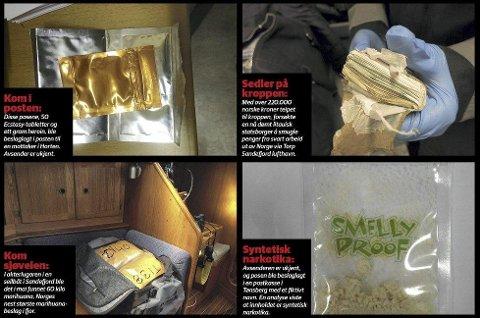 LYSSKY VIRKSOMHET: Postsendt syntetisk narkotika, smugling via vestfoldkysten og penger fra svart arbeid er blant det Sandefjord tollsted jobber for å avdekke.  Foto: Tollvesenet