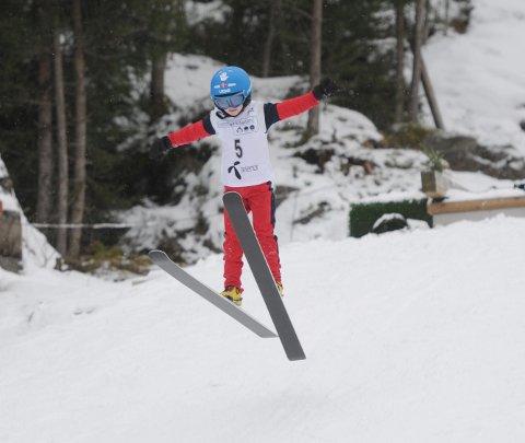 HOPP ER TOPP: Andre Rauland synes hopp er topp - og det er utvilsomt en idrett han mestrer.   FOTO: FRODE BERG