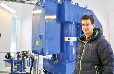 Middøla kraftverk i Tinn er allerede i drift, men åpnet offisielt i forrige uke. Prosjektleder for kraftanlegget har vært Mats Nilsen.