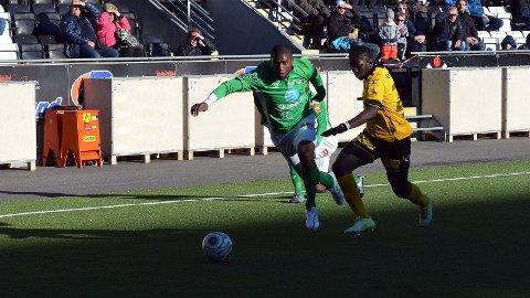 Olivier gjorde en ny god kamp for Odd, og scoret to mål.