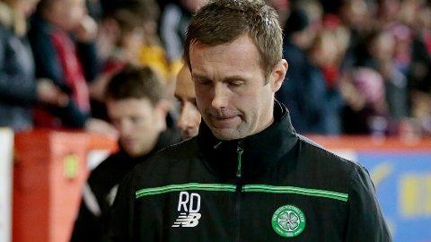 TØFF PERIODE: Presset øker på Ronny Deila etter nytt Celtic-tap onsdag. Foto: Graham Stuart (Reuters)