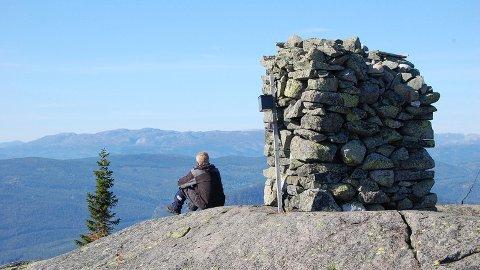FLOTT: Narefjell i Sauheradsfjella er en av de fineste turene. Den forsvinner neppe når listen over årets Ti-Toppere presenteres. Foto: Roger Gundersen