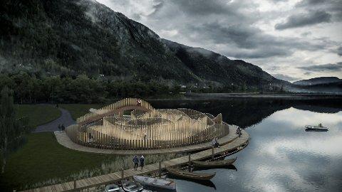 LABYRINT: Seljord kommune ønskjer å etablere ein labyrint som buktar seg i vasskanten på Eventyrøy.