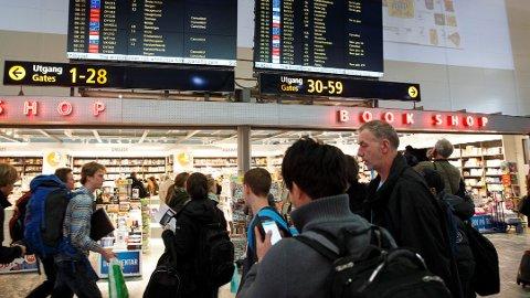 Skal du bytte fly underveis, lønner det seg å beregne god tid. Foto: Heiko Junge, NTB scanpix/ANB
