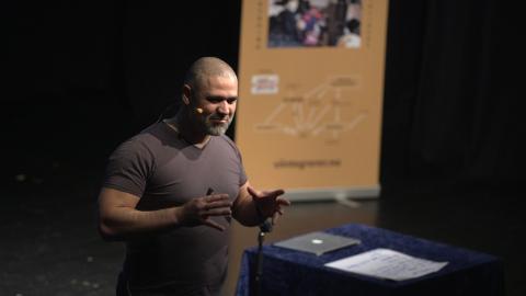 To foredrag: François Elsafadi holdt to foredrag på Notodden.