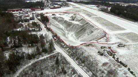 SANKSJONER: Direktoratet for mineralforvaltning vurderer sanksjoner mot Skien kommune etter overtredelse av minerralloven for uttaket utover 70 000 m3 på Geiteryggen.