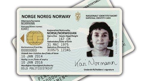 De nasjonale ID-kortene er ikke klare før tidligst 1. april neste år. Foto: Regjeringen.no/ANB