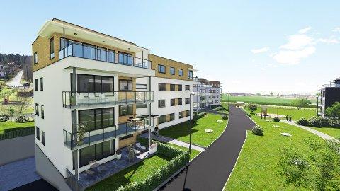 NYE BOLIGER: Med fem solgte leiligheter er boligbyggelaget klar for å sette opp et nytt bygg ved i Buerhaven, ved Borgeåsen.