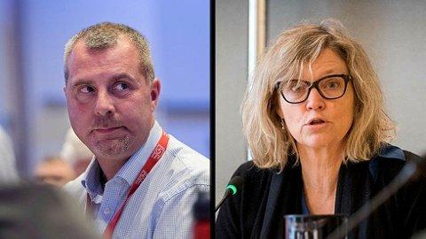 Mens LO-nestleder Roger Haga Heimli mener det økonomiske aspektet ved sykefraværsdebatten må dempes, mener NHOs direktør for arbeidsliv, Nina Melsom, at kostnadene må kuttes. Hun vil ha sykelønn på bordet når partene skal diskutere rapporten fra sysselsettingsutvalget til neste år. Foto: Mimsy Møller, Dagsavisen og Gorm Kallestad, NTB scanpix