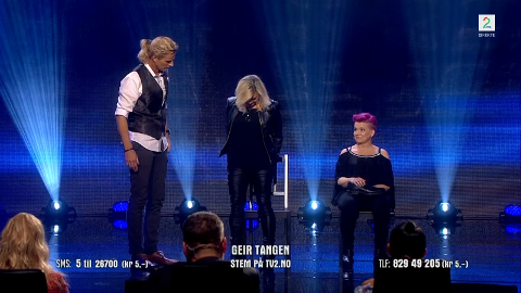 HYPNOSE: Geir Tangen under fredagens episode av Norske Talenter.
