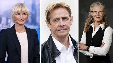 Nina Owing, Anders Magnus og Gro Holm fikk alle over en million kroner fra statskanalen. Foto: Nrk