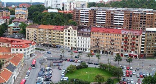 Göteborg ligger på bilinnbruddstoppen i Sverige. Mye av årsaken ligger i den store gjennomstrømmingen av turister på sommeren. (Foto: Wikimedia Commons)