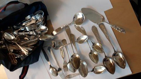 Politiet har ikke klart å finne ut hvem sølvtøyet tilhører.