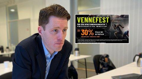 DYRT OG BILLIG: Det lønte seg ikke for XXL og sjef Tolle Grøterud og kjøre kampanje i fjor. Foto: Halvor Ripegutu