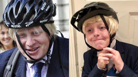 HUMOR: I år kledde Oskar (11) seg ut som Boris Johnson.
