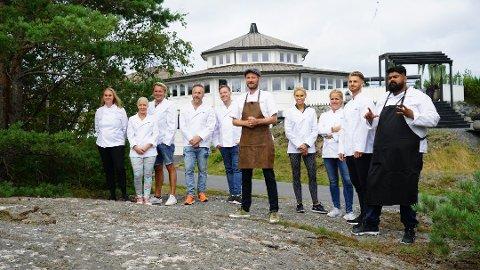 DELTAKERNE: Her er kjendisene som skal kjempe oms eieren i Camp Kulinaris. Foto: TV3