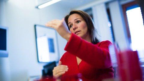 FAGFORENINGSSJEF: Trine Lise Sundnes er sjef i LO-forbundet Handel og Kontor, som representerer alt fra funksjonærer til butikkmedarbeidere.  Foto: Alexander Winger (Nettavisen)