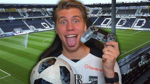 KLAR FOR ODD: Sander «Randulle» Austad Dale har signert for Odd - ikke som fotballspiller, men som e-sport-spiller. Foto: Privat