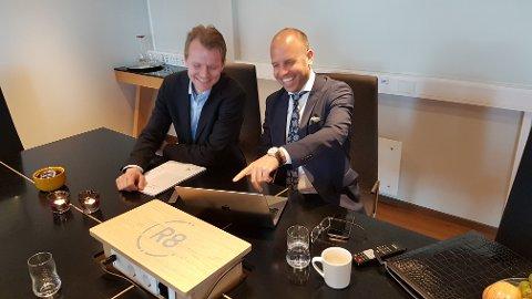 SNART TO MILLIARDER: R8 Property AS med hovedaksjonær Emil Eriksrød har snart eiendomverdier for to milliarder kroner. Økonomisjef Eirik Engaas skal holde orden på kronene.
