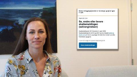 SKATTEMEDLINGEN: Forbrukerøkonom Cecilie Tvetenstrand i Danske Bank mener flere må sette seg inn i egen økonomi og følge opp skattemeldingen. Det kan spare dem mye penger. Foto: Espen Teigen (Nettavisen)