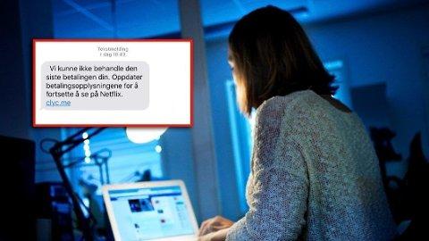 IKKE TRYKK: Får du en slik SMS, så ikke trykk på linken. Foto: Bjørnar K. Bekkevard
