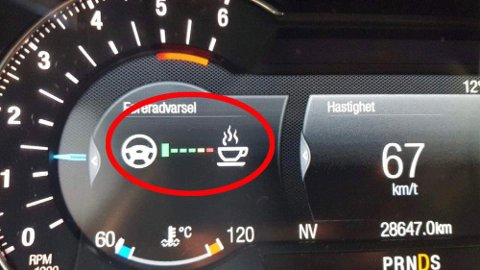 Når du ser dette symbolet er det på tide å ta en pause.