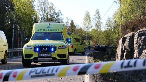 DØDSULYKKE: Ulykka skjedde tidlig om morgenen 3. mai i fjor på Drangedalsvegen i Drangedal.