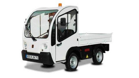 ELBIL I SENTRUM: En elektrisk pickup blir snart å se i sentrumsgatene. Det blir den første elektriske arbeidsbilen til kommunalteknikk.