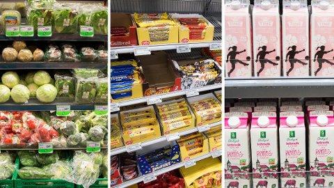 ULIK PLASSERING: Hvor de ulike varene er plassert i dagligvarebutikken, er strategisk og nøye gjennomtenkt, ifølge eksperter. Foto:Berit Roald og Terje Pedersen (NTB)