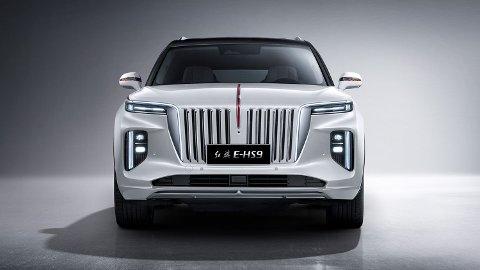 VOLDSOM: Den voldsomme fronten kan gi assosiasjoner til Rolls-Royce, men også til store amerikanske biler som for eksempel Lincoln Navigator.