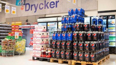 BILLIG: Mange nordmenn har dratt over grensen for å kjøpe brus. Det har fått en bråstopp under korona-pandemien.Foto: Annika Byrde (NTB scanpix)