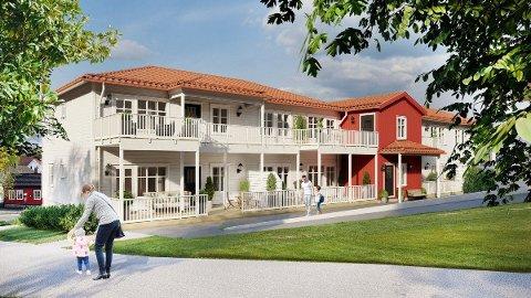 LILLETORGET: Dette er hvordan boligene vil se ut når de er ferdige.