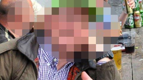 OVERGRIPEREN: Denne mannen, her avbildet i festlig lag for noen år tilbake, er tiltalt for grov voldtekt på Norway Cup.