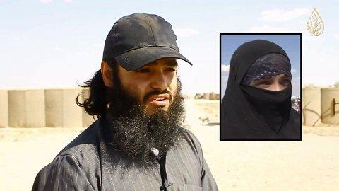 Skiens-mannen og fremmedkrigeren Bastian Vasquez dro til Syria i oktober 2012. Han giftet seg med IS-kvinnen (innfelt) og fikk et barn med henne. Vasquez ble drept i Syria da han sammenstilte bomber for IS i april 2015, får Nettavisen opplyst. Foto: Innfelt bilde brukes med tillatelse av NRK