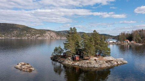 NORSJØ: Her får du hytte på egen øy til to millioner.