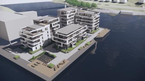 SKJÆR I SJØEN: Prosjektet til Conceptor Bolig på Klosterøya har møtt flere skjær i sjøen. Nå har NVE besluttet at tiltaket er konsesjonspliktig.