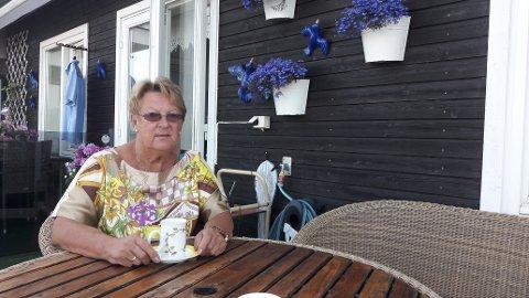 SOLBJØRG JØRGENSEN: Etter at hun mistet evnen til å gå uten hjelpemidler, har det ikke vært mulig for Solbjørg å nyte strendene i Grenland.