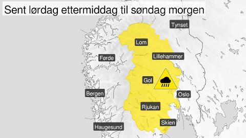 Foto: Skjermdump Yr.no