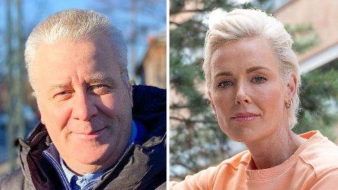 UENIGE: Mens Bård Hoksrud synes det er uproblematisk med lave smågodtpriser, kommer Gunhild Stordalen med kritikk til dagligvarekjedene. Foto: Henrik Wiese-Hansen og Nina Lorvik (Mediehuset Nettavisen)