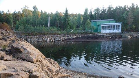 Slik så det ut ved Grøtvann 20. august 2018.