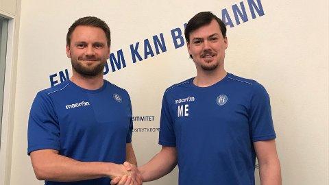 NYTT TILSKUDD: Stian Bjerkan Bråten er hentet inn som ny assistenttrener for Magnus Erga og NFK.