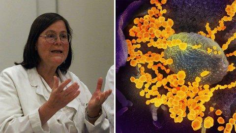 PASS PÅ: Professor og tidligere smittevernoverlege ved Ullevål sykehus, Bjørg Marit Andersen, mener folk må ta inn over seg hvor smittsomt Covis-19-viruset faktisk er.