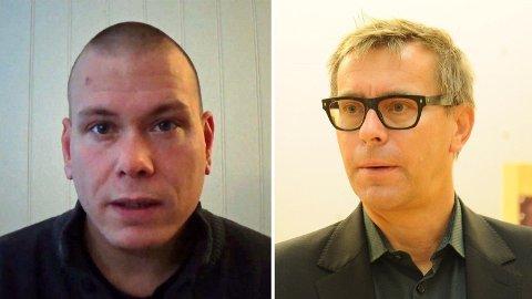 VANSKELIG Å VITE PÅ FORHÅND: Psykologspesialist Pål Grøndahl (til høyre) sier at det ikke er mulig å vite på forhånd hvem som vil drepe. Torsdag ble det kjent at det var Espen Andersen Bråthen (37) som utførte drapene i Kongsberg.