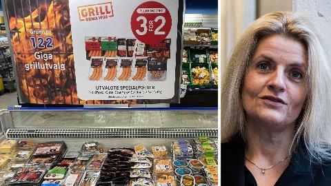 REAGERER: Direktør Inger Lise Blyverket i Forbrukerrådet sier at de vil ha slutt på «3 for 2». Foto: Nina Lorvik (Nettavisen) / Forbrukerrådet