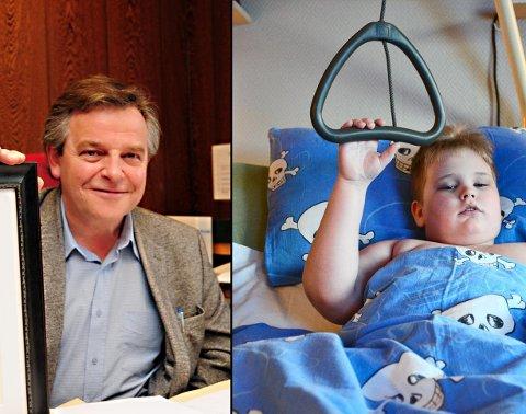 Advokat Edvard T. Eide stiller opp for Trym Langnes og andre barn som er rammet av den helgestengte barneavdelingen i Kristiansund. Han tar ikke betalt for jobben.