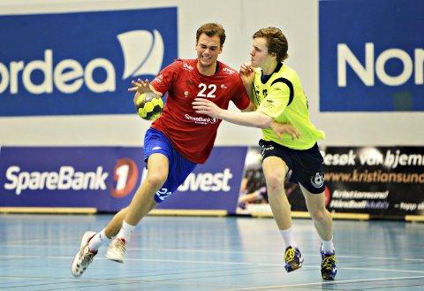 Martin Flack og KHK tapte med ni mål hjemme mot Viking i Braatthallen søndag kveld.