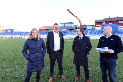 Tove Berget, Erik Pettersen, Stig Flemmen og Kjetil Thorsen spiller på lag.