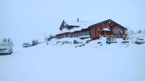 Slik ser det ut på Aursjøhytta i slutten av oktober.